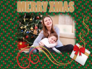 "Xmas Card created using ""My Xmas Cards"" iphone app"