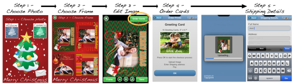 "How to create xmas greeting cards using ""My Xmas Cards"" iphone app"